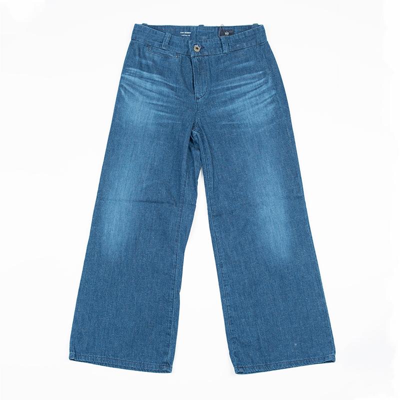 AG Jeans | エージージーンズ ジーンズ デニムパンツ ワイドパンツ 送料無料 BOBBIE コース ブルー ワイドレッグ クロップ レディース デニム