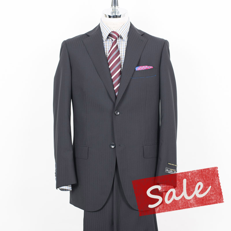 Style Edition|スタイルエディション イタリー Tessuto Super100'S ブラック ノータック 2ボタン スーツ