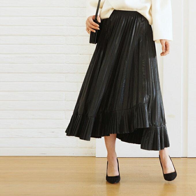 「styleluxe」2/4 20時から残りわずか**広がるアシメスカート【F170127】送料無料