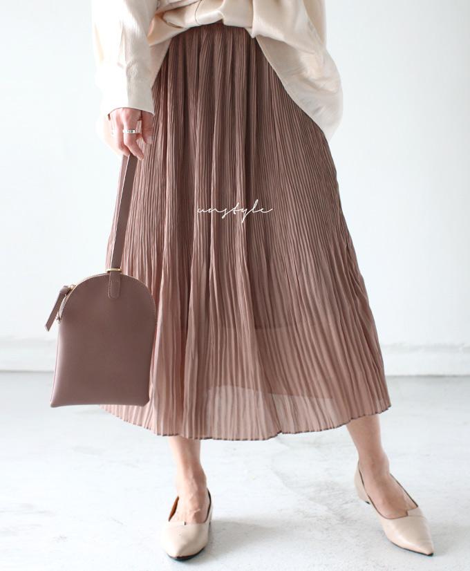 new styles ae763 6c060 ◇◇(black pink beige) chiffon pleats style skirt