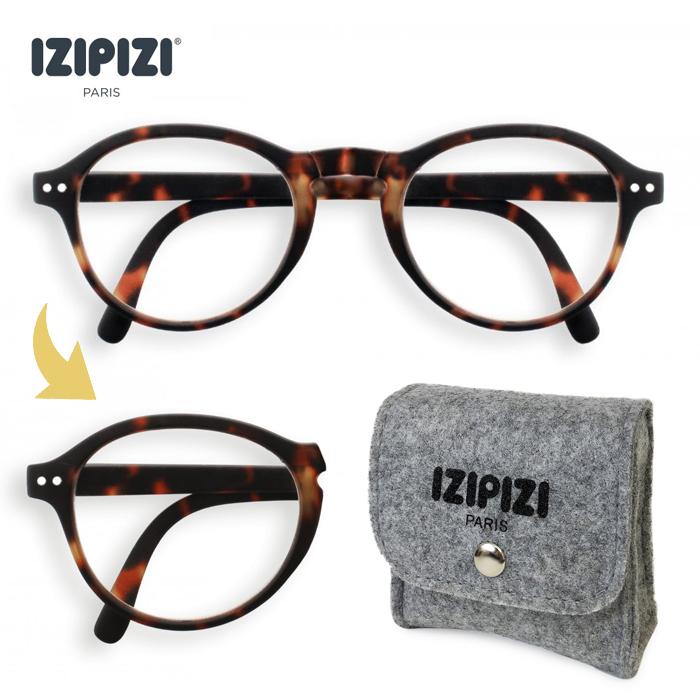 IZIPIZI イジピジ #F TORTOISE 折りたたみ リーディンググラス 老眼鏡  眼鏡  めがね メガネ 度あり コンパクト ケース付き