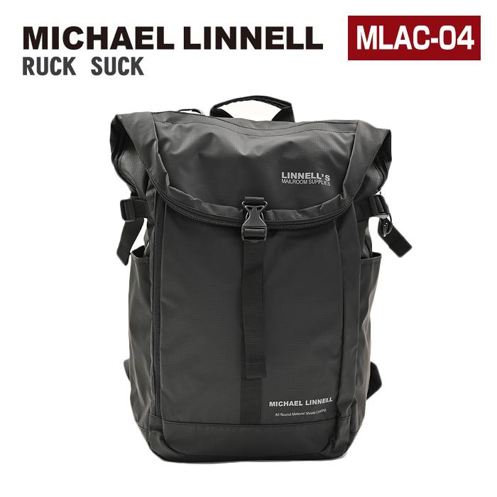 MICHAEL LINNELL マイケルリンネル リュック MLAC-04 31L 大容量 リュックサック デイパック バックパック スクエア メンズ レディース 男女兼用 黒リュック
