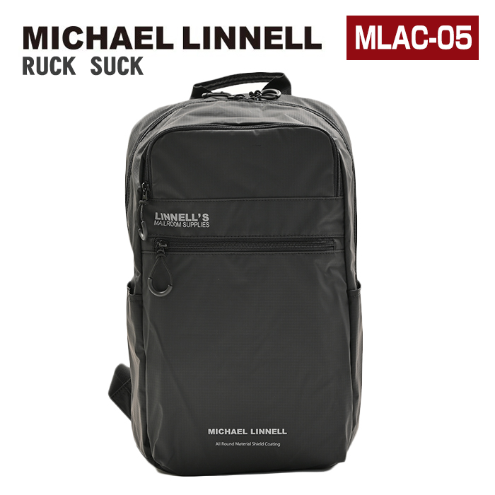 MICHAEL LINNELL マイケルリンネル リュック MLAC-05 23L 大容量 リュックサック デイパック バックパック スクエア メンズ レディース 男女兼用 黒リュック
