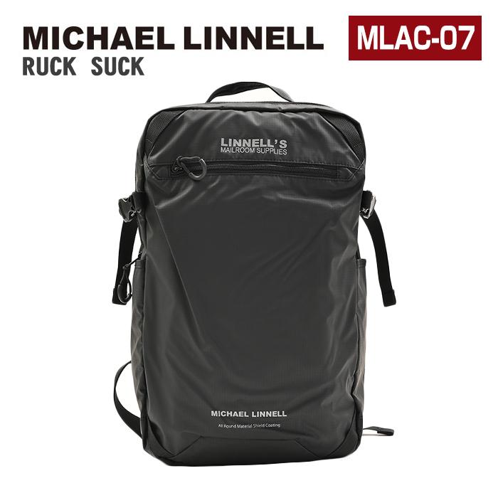 MICHAEL LINNELL マイケルリンネル リュック MLAC-07 24L 大容量 リュックサック デイパック バックパック スクエア メンズ レディース 男女兼用 黒リュック