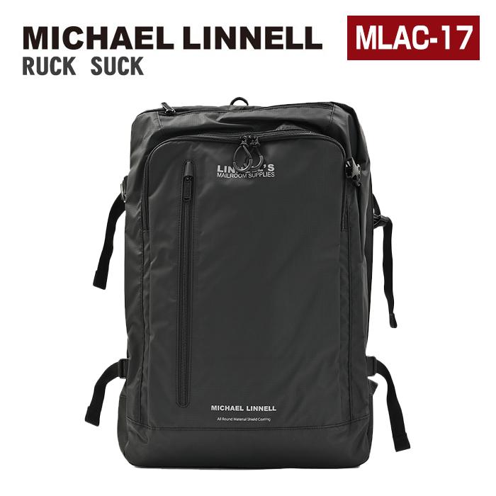 MICHAEL LINNELLマイケルリンネル リュック MLAC-17 31L 大容量 リュックサック デイパック バックパック スクエア メンズ レディース 男女兼用 黒リュック