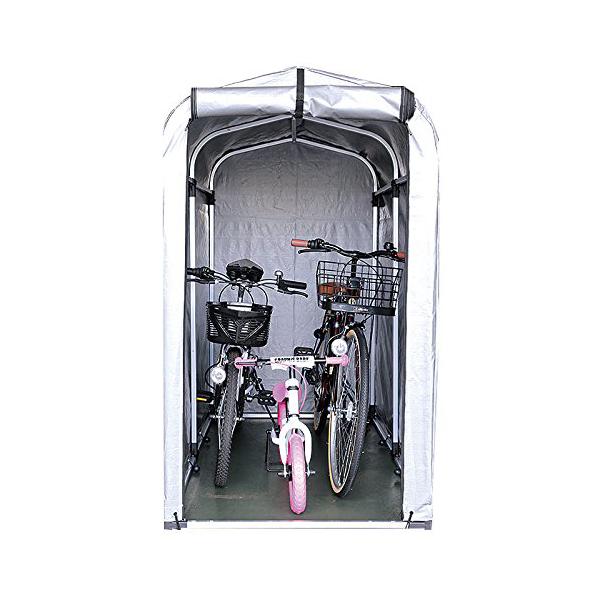 サイクルハウス 2台収納 SE-20 アルミフレーム 自転車カバー/サイクルガレージ/バイクシェルター/物置き/簡易ガレージ/テント