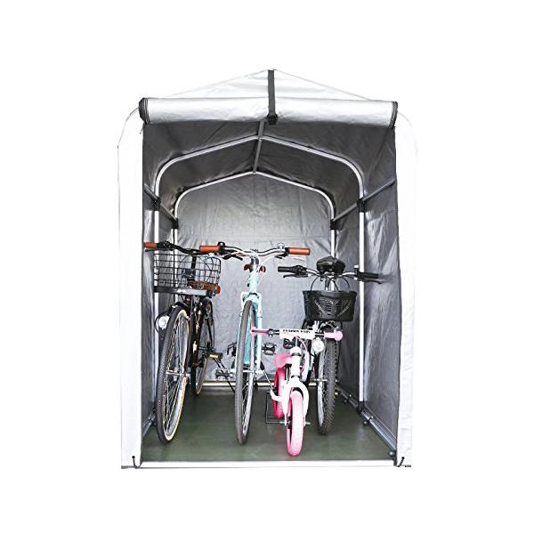 サイクルハウス 3台収納 SE-25 アルミフレーム 自転車カバー/サイクルガレージ/バイクシェルター/物置き/簡易ガレージ/テント
