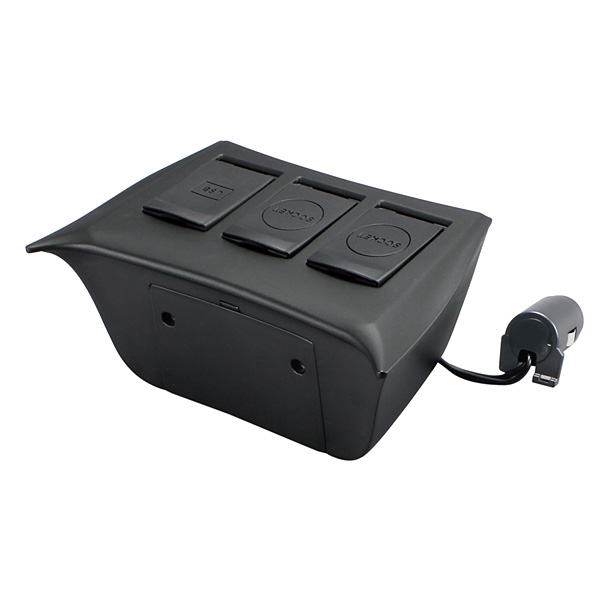 YAC(牦牛)50系统普锐斯专用电源BOX SY-P8/USB增设插口分配汽车插头DC12V 2.4A手机智能手机平板电脑iPhone android充电