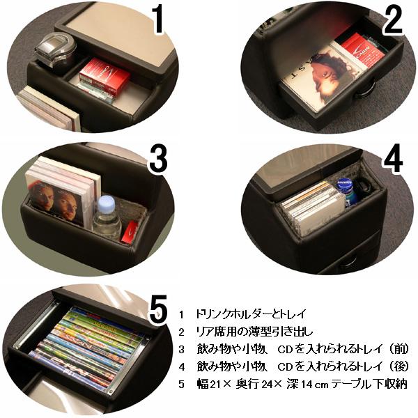 日本日产尔格 (尔格) 专用的控制台箱饮料架中心表 E51 内饰件汽车存储储物盒 CD DVD 球童