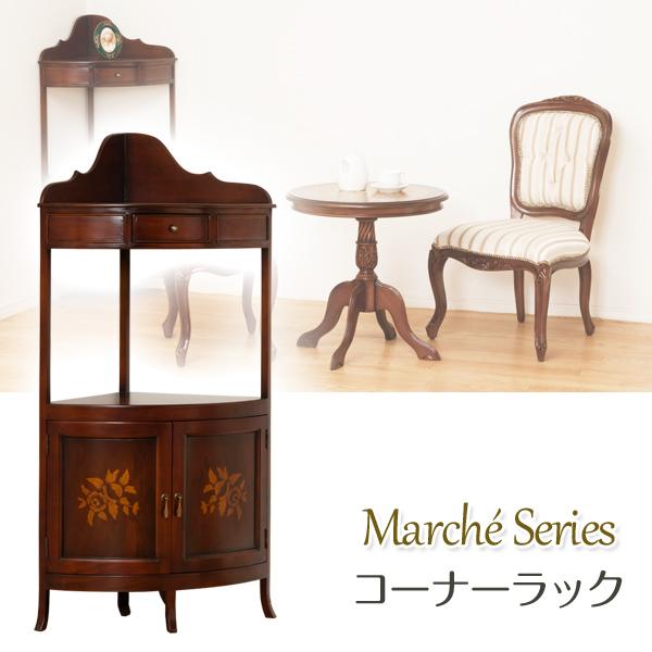Marche Corner Rack Antique Corner Chest Natural Wood Decoration Shelf Telephone  Stand Living Rack Decoration Shelf