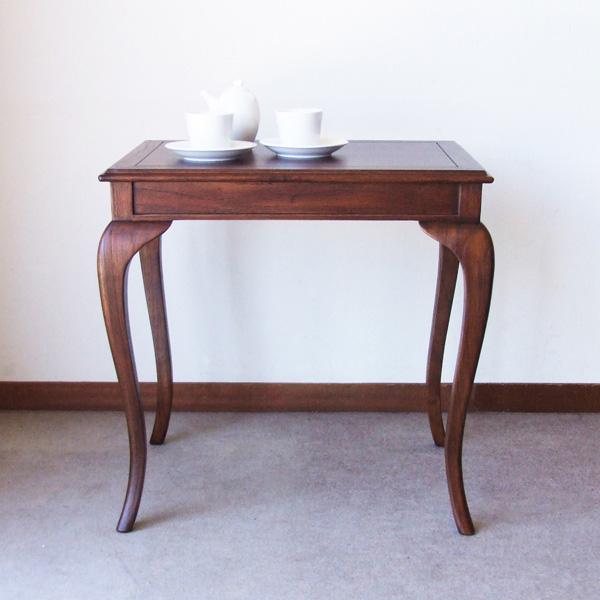 【代引不可】ウェール 天然木コーヒーテーブル アンティークモダン家具 28585