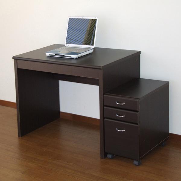 【代引不可】フェイバーデスク90 ブラウン パーソナルデスク 書斎 PCデスク 勉強机 学習机