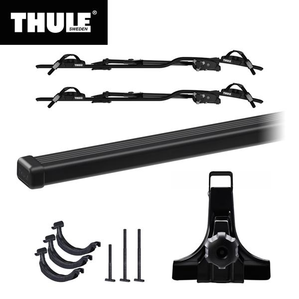THULE(スーリー) ジムニー専用ベースキャリア(フット951+スクエアバー7124)+サイクルキャリア プロライド ブラック×2台+アダプター889-5×2 H30/7~ JB64