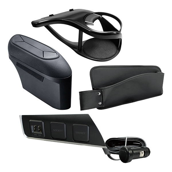 YAC(ヤック) C-HR専用 運転席用 収納アイテム&電源BOX 4点セット ZYX10/NGX50 車 内装 エアコンドリンクホルダー ゴミ箱 ダストボックス 充電 USB ポケット【あす楽15時まで】