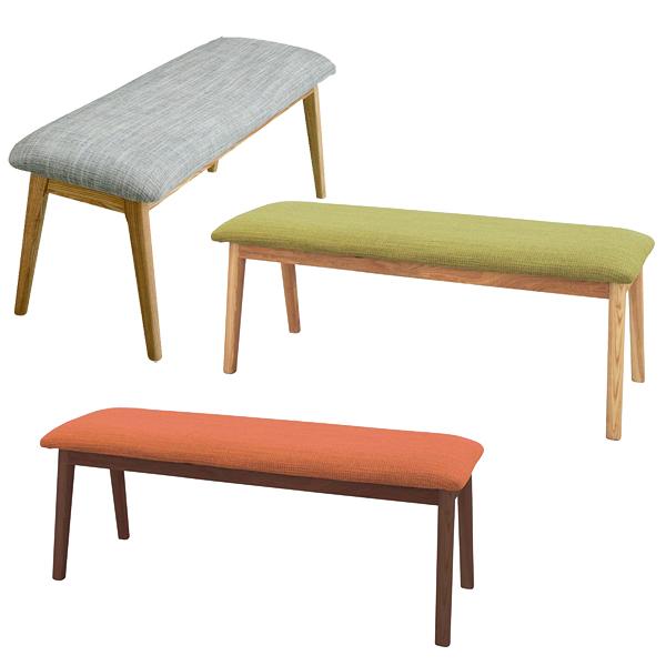 モタ ベンチ ブラウン/グリーン/ナチュラル/リビング・ダイニング・椅子・スツール
