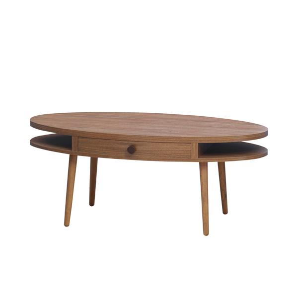アルム オーバルセンターテーブル ウォールナット/リビング・ダイニング・丸形