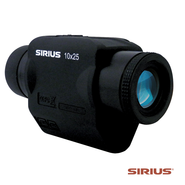 SIRIUS(シリウス)10×25 10倍望遠 防振スコープ へリ、船舶、車両などでも揺れ、手ブレを補正 単眼鏡 望遠鏡