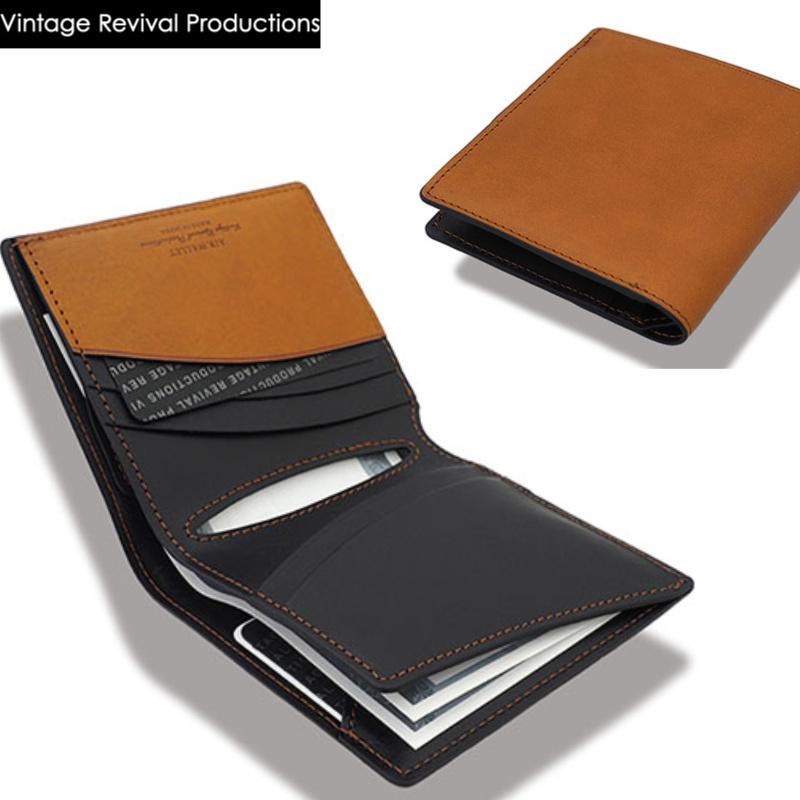 ビンテージリバイバルプロダクション(VRP)製 Air Wallet 2(エアウォレット 2)オイルレザー本革製。軽量でスマートな二つ折り財布はおしゃれで機能性も高い ファッション ブランド