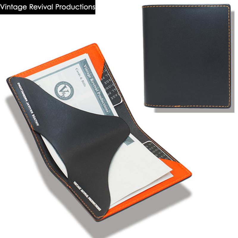 """超薄型財布本革 ビンテージリバイバルプロダクション(VRP)製 Billfold """"symmetry""""(ビルフォールド シンメトリー)イタリアンレザーウォレット。未来的デザインのミニマルで超軽量、スリムな二つ折り極薄財布。日本製 メンズ ブランド"""