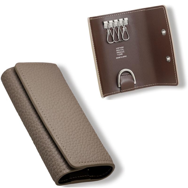 ビンテージリバイバルプロダクション(VRP)製 Key case classic2 shrink キーケース クラシック2 シュリンクは、本革使用の三つ折りキーケース。使いやすく普遍的なフォルム。 全3カラー おしゃれ ファッション キーホルダー キーリング マットシュリンクレザー