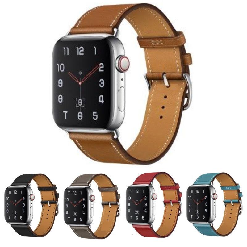 アップルウォッチベルト Apple Watch交換用本皮バンド ベルト お買い得品 薄手の本皮がおしゃれ 42ミリ Series1 Series2 Series3 及び44ミリ 5 革 バンド 交換用 用 期間限定で特別価格 ランキング総合1位 リアルレザー 42mm用薄型レザーと細身のシルバーバックルがシックで高級感のあるアップルウォッチ Series4 本皮 アップルウォッチ 44mm