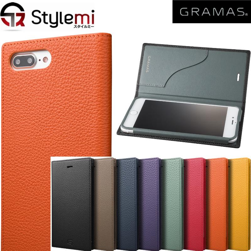 iPhone 8 Plusケース, iPhone 7 Plusケース GRAMAS(グラマス)GLC656P手帳型。最高級シュランケンカーフレザー本革使用ダイアリータイプアイフォンカバー。カード収納付き大人の男性女性に似合う ブランド おしゃれ 豪華プレゼント付き!