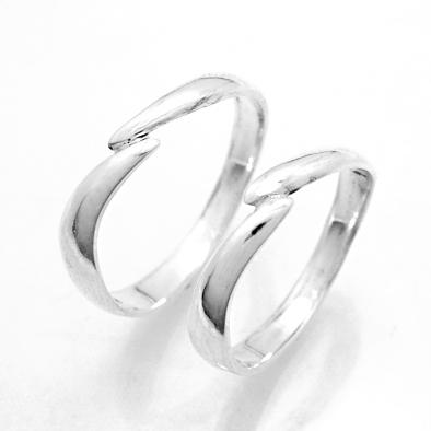 【2本セット価格 プラチナ900】 スッキリデザイン プラチナPt900ペア・マリッジリング2本セット Crescent 【STYLERINGオリジナル結婚指輪】【楽ギフ_名入れ】