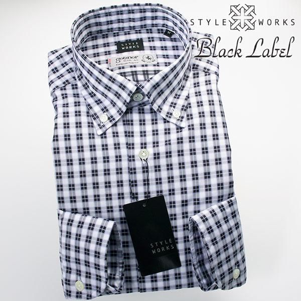 ドレスシャツ ワイシャツ シャツ メンズ 国産 オリジナル 長袖 ボタンダウンカラー 製品洗い加工 オーバーチェック パウダーパープル・シルバー getzner生地