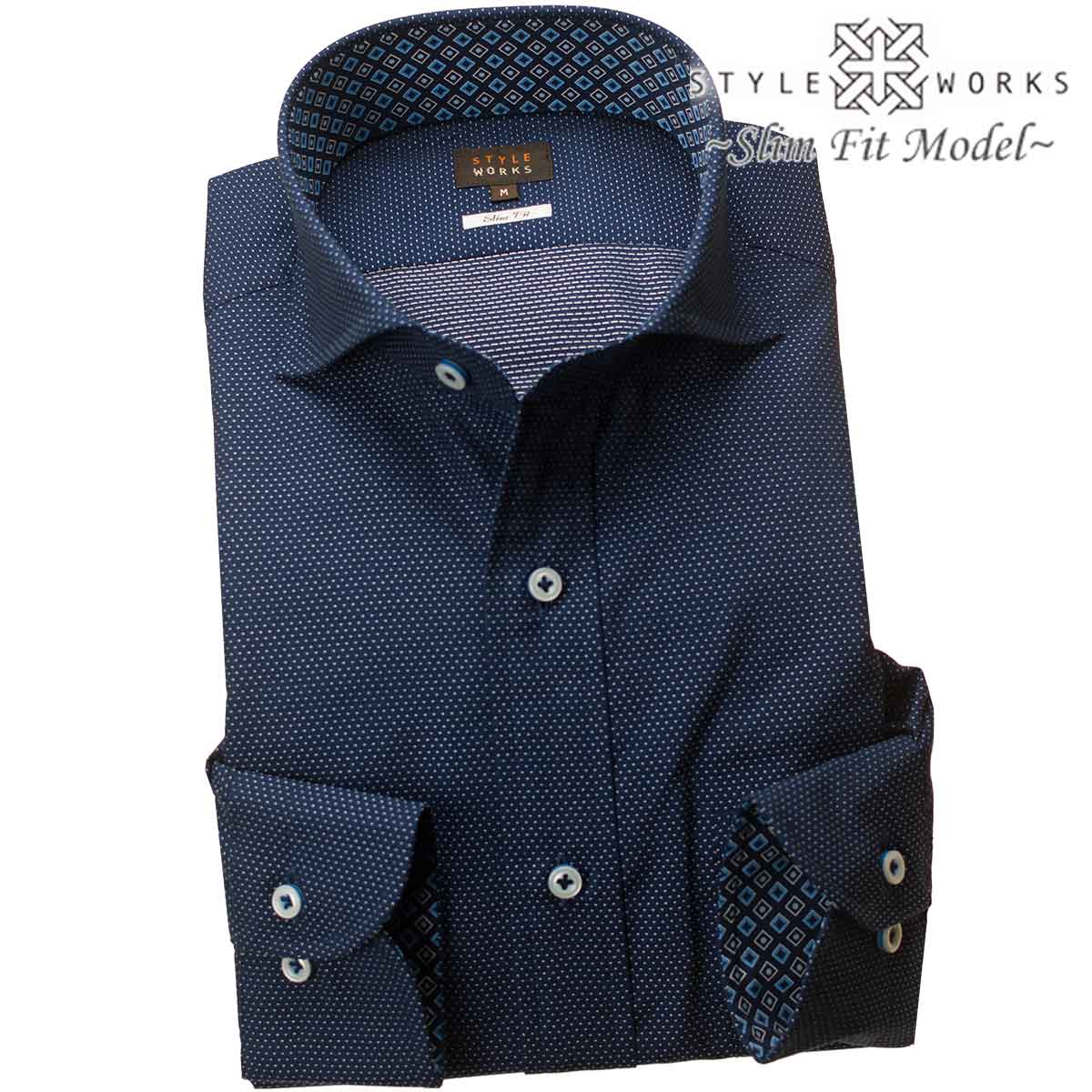 Style Works 1805 Domestic Production Long Sleeves Men Dress Shirt