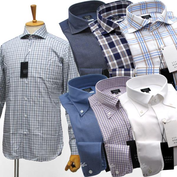【送料無料】 国産オリジナルドレスシャツ ワイシャツ シャツ メンズ Vintage Line スリムフィット 柄選択有 長袖 GIZA88生地使用