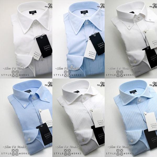 オリジナルドレスシャツ Vintage Line スリムフィット 長袖 柄選択有 6柄 GIZA88メンズ fs3gm