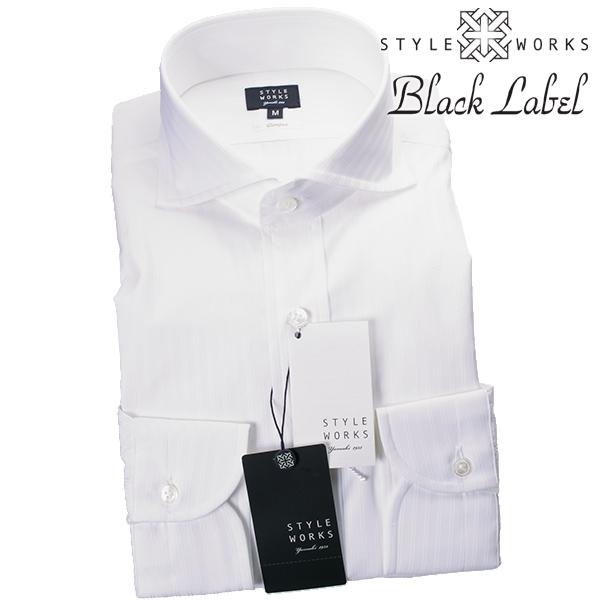 国産ドレスシャツ Vintage Line コンフォート 長袖 GIZA88 ホワイト ドビーダブルストライプカッタウェイワイドメンズ fs3gm