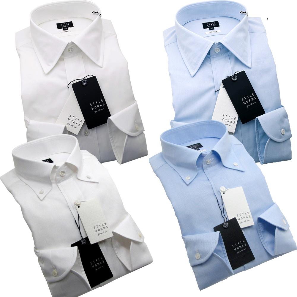 オリジナルドレスシャツ ワイシャツ シャツ メンズ Vintage Line コンフォート 長袖 GIZA88 柄選択有 4柄