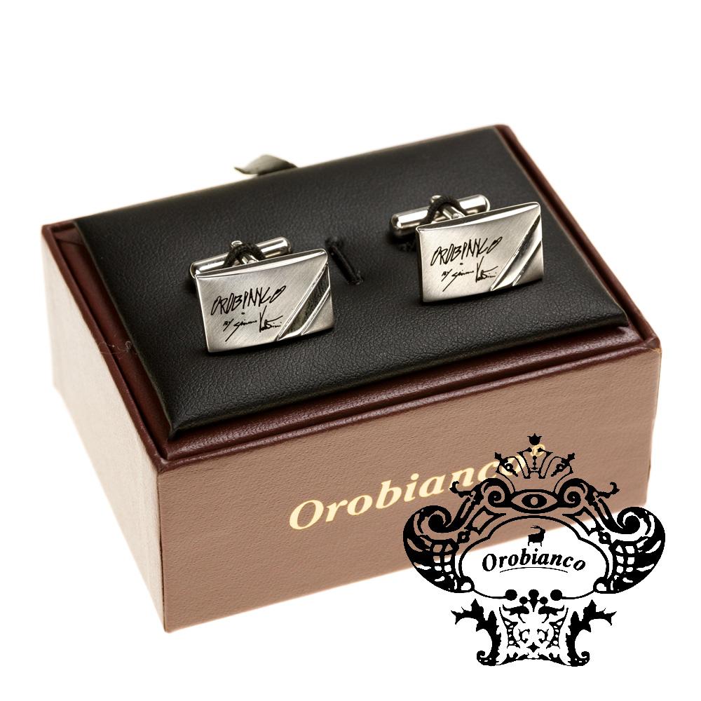 オロビアンコ Orobianco カフリンクス  カフスボタン スクエア ジャコモ氏サインモチーフ ORC2007 正規品メンズ