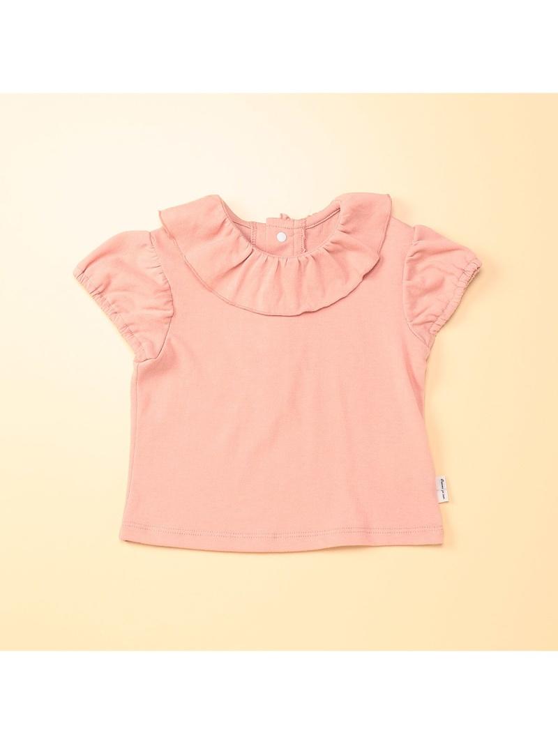 8bc9e1188adbe COMME CA ISM フリルピエロカラー半袖Tシャツ コムサイズム マタニティー ベビー RBA S