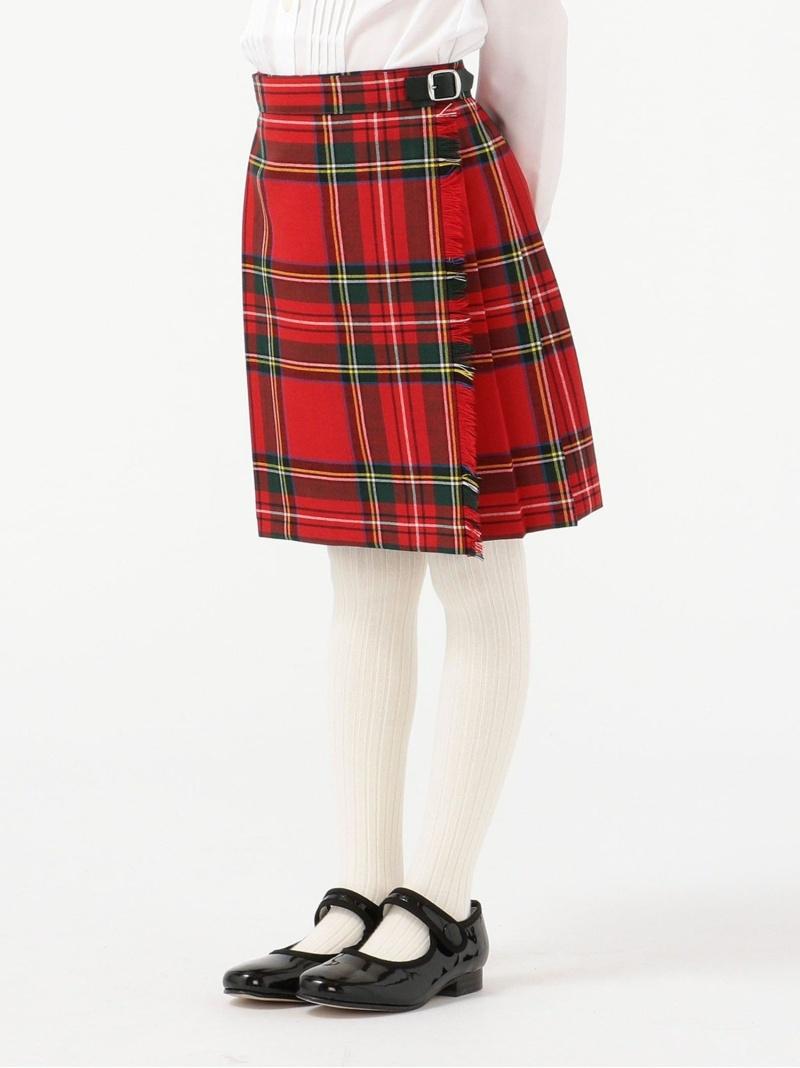 SHIPS KIDS O'NEILofDUBLIN:サマーウールキルトスカート(100~140cm) シップス スカート キッズスカート レッド グリーン【送料無料】