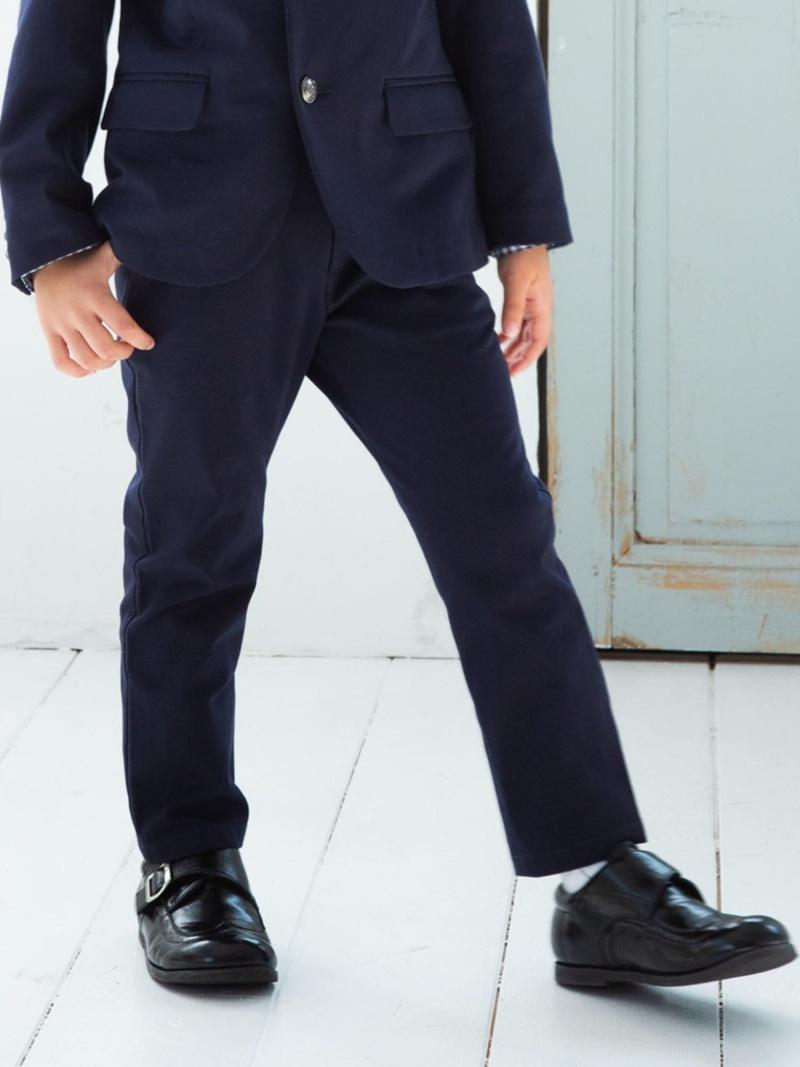 BeBe モクロディ―ロングパンツ ベベ オンライン ストア パンツ/ジーンズ パンツその他 ネイビー【送料無料】