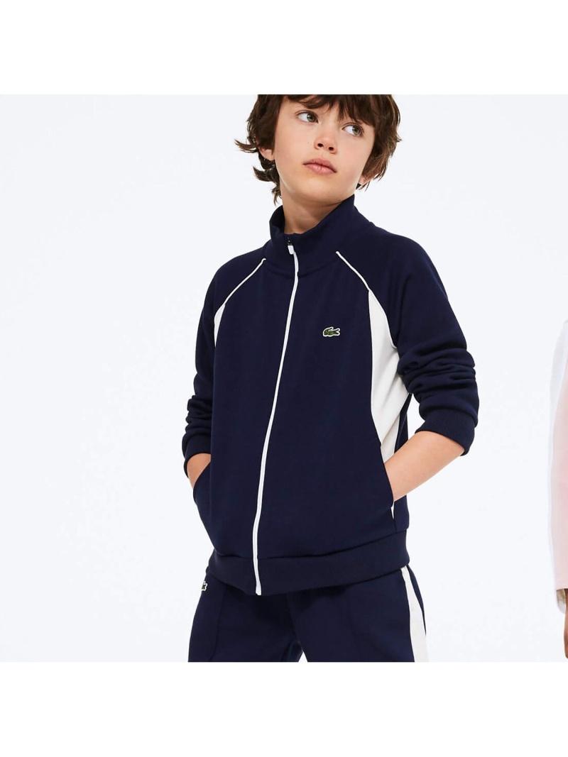 LACOSTE Boysジッパースウェットシャツ ラコステ コート/ジャケット ブルゾン【送料無料】