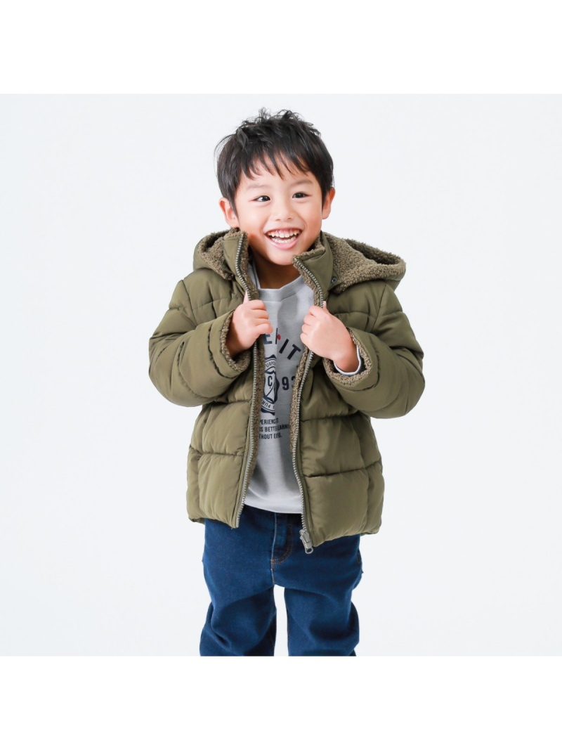 【SALE/30%OFF】COMME CA ISM リバーシブル中綿コート コムサイズム コート/ジャケット ブルゾン カーキ ブラック【RBA_E】【送料無料】