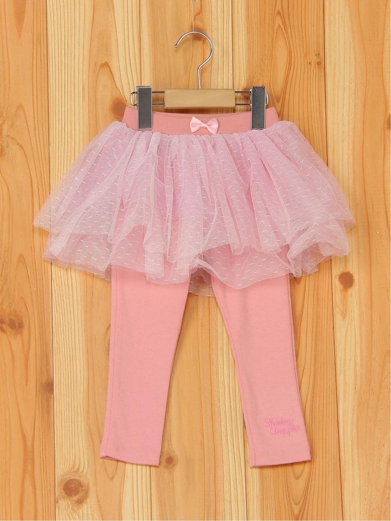 ShirleyTemple チュールスカート付パンツ シャーリーテンプル パンツ/ジーンズ キッズパンツ ピンク【送料無料】