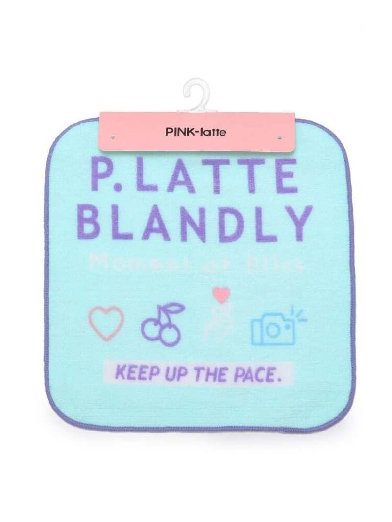 0419_worldkids 新品 PINK-latte キッズ ファッショングッズ ピンク ラテ アソートプリントハンドタオル いよいよ人気ブランド グリーン ブルー タオル パープル ハンカチ