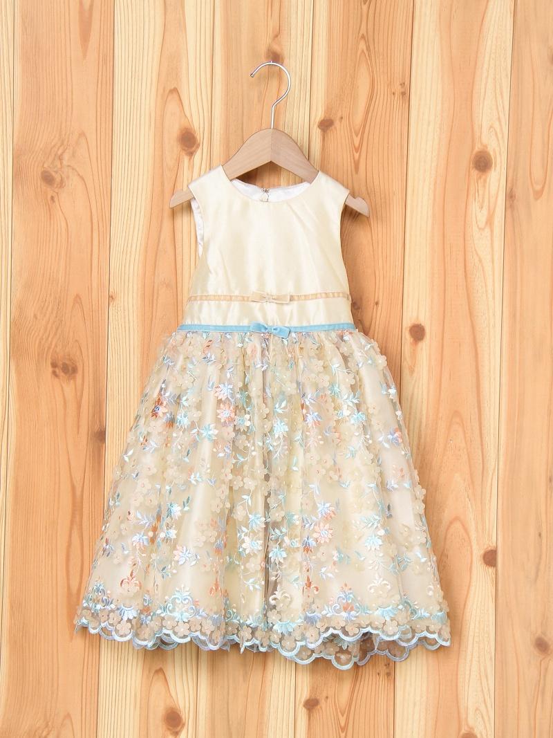 ShirleyTemple 花刺繍チュールドレス シャーリーテンプル ワンピース【送料無料】