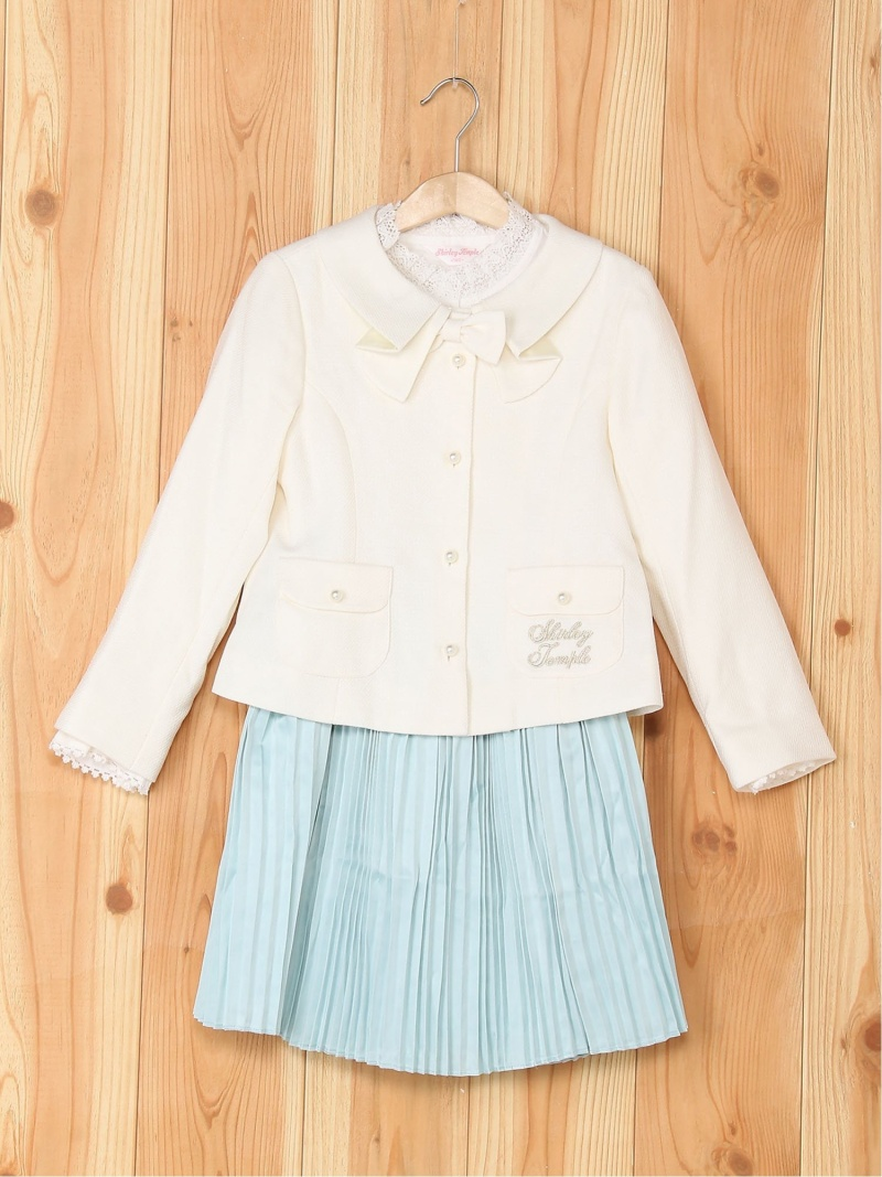 【SALE/50%OFF】ShirleyTemple スーツ3点セット シャーリーテンプル カットソー キッズカットソー ブルー ピンク【RBA_E】【送料無料】