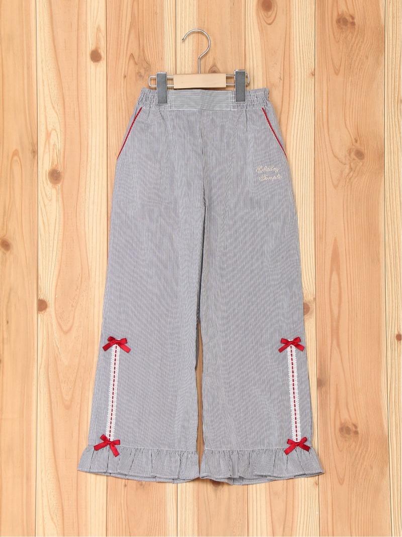 ShirleyTemple 裾ハシゴレースパンツ シャーリーテンプル パンツ/ジーンズ キッズパンツ ブラック【送料無料】