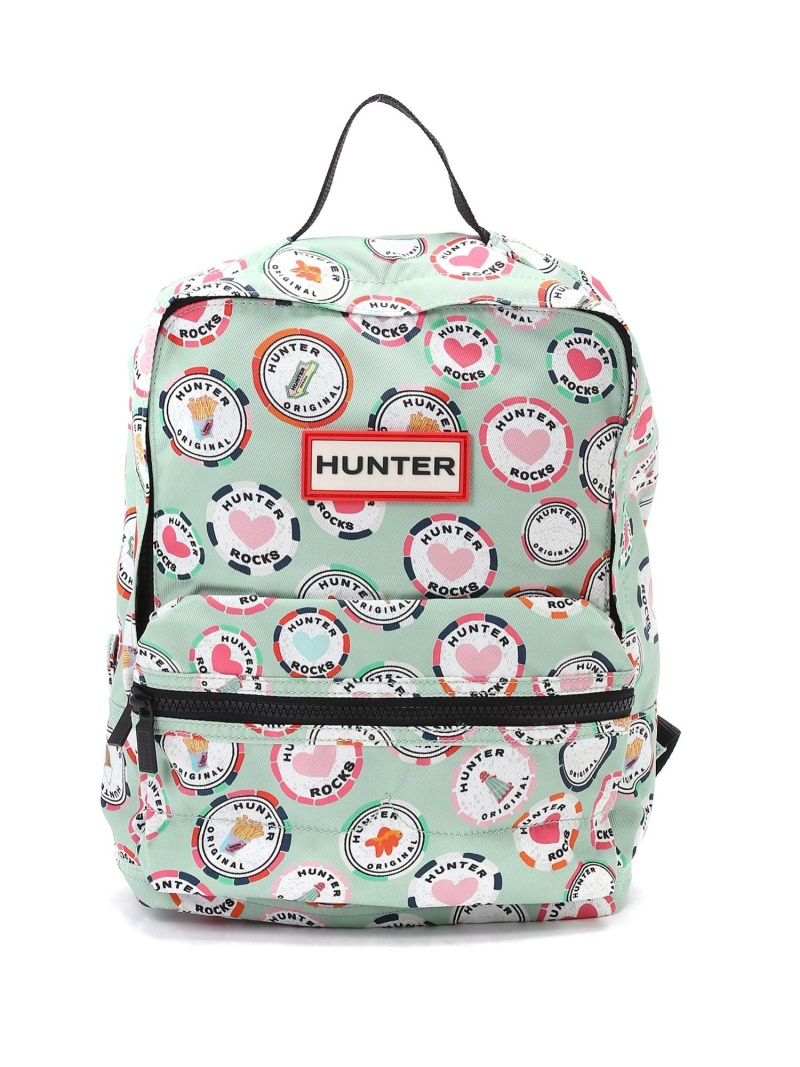HUNTER (K)KIDS ORG CHARACTER BACKPACK ハンターアウトレット バッグ キッズバッグ グリーン【送料無料】