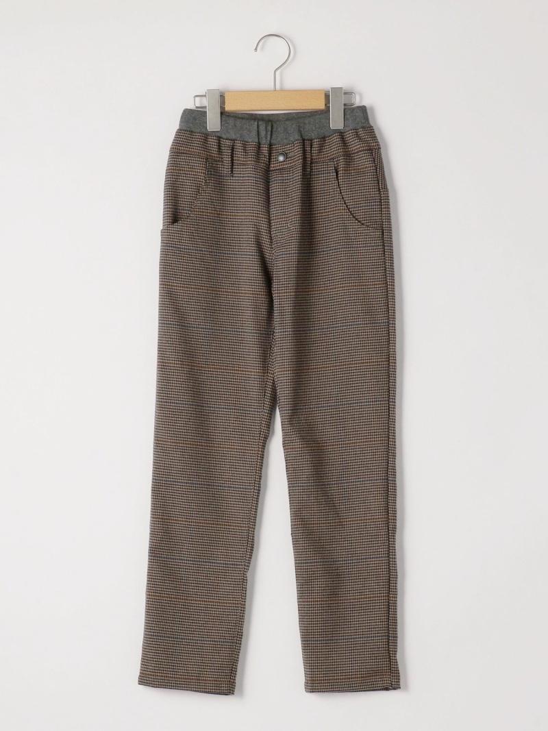 SHIPS KIDS SHIPSKIDS:TRグレンチェック5ポケットパンツ(145~160cm) シップス パンツ/ジーンズ キッズパンツ ブラウン グレー【送料無料】