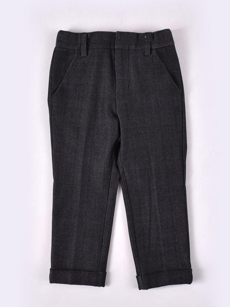 WASK ワッペン付きデニム調パンツ(110cm~130cm) ベベ オンライン ストア パンツ/ジーンズ パンツその他 グレー【送料無料】
