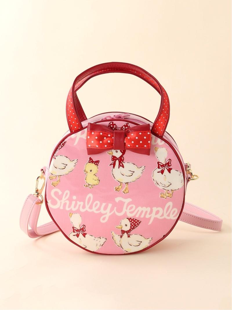 ShirleyTemple あひる&ひよこボーダーショルダーバッグ シャーリーテンプル バッグ キッズバッグ ピンク【送料無料】