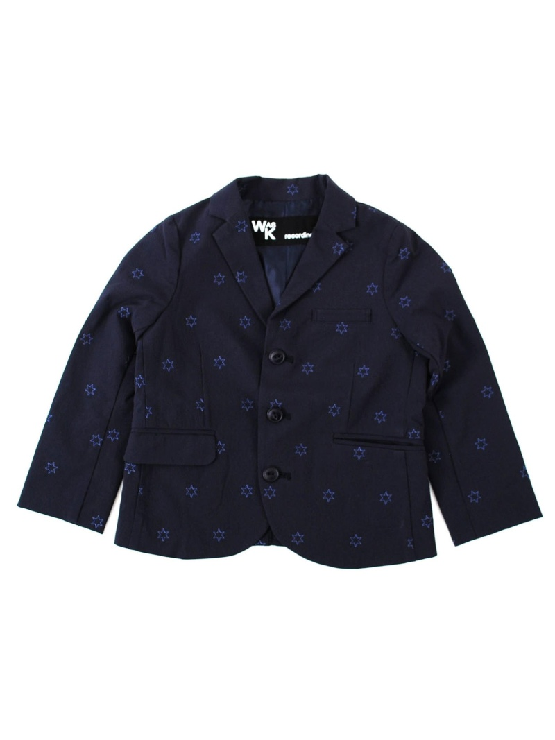 WASK 星刺繍テーラードジャケット(120cm) ベベ オンライン ストア コート/ジャケット テーラードジャケット ネイビー【送料無料】