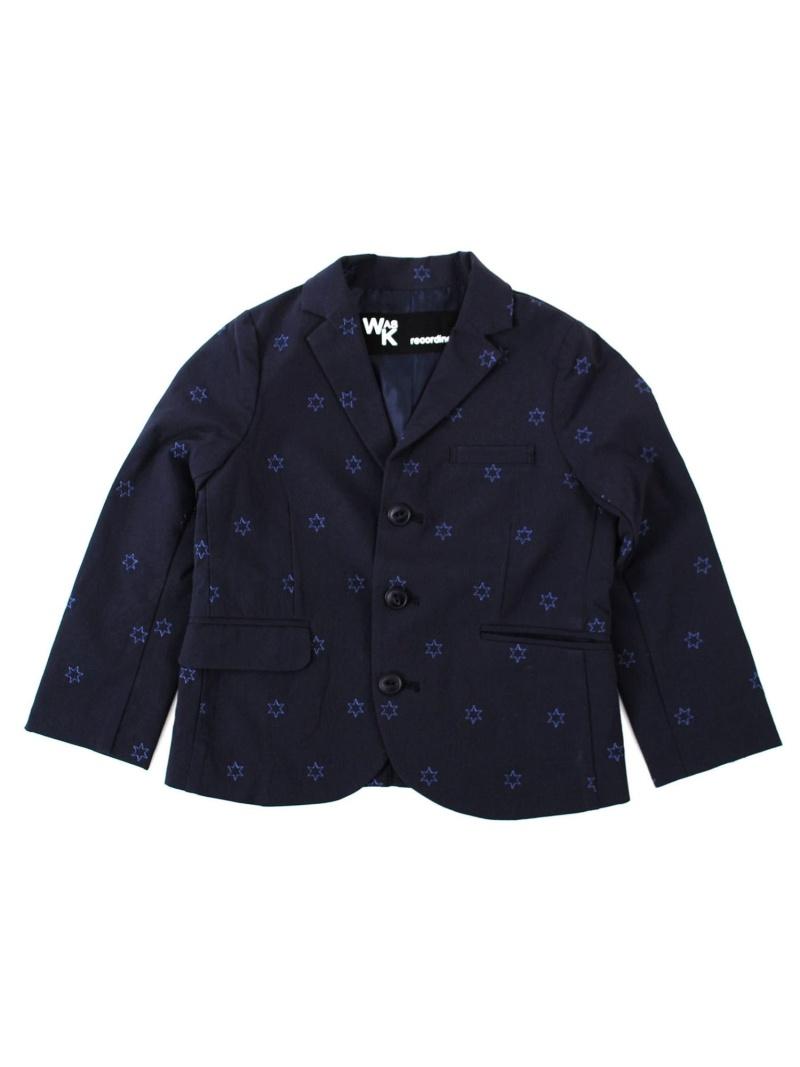 WASK 星刺繍テーラードジャケット(160cm) ベベ オンライン ストア コート/ジャケット テーラードジャケット ネイビー【送料無料】